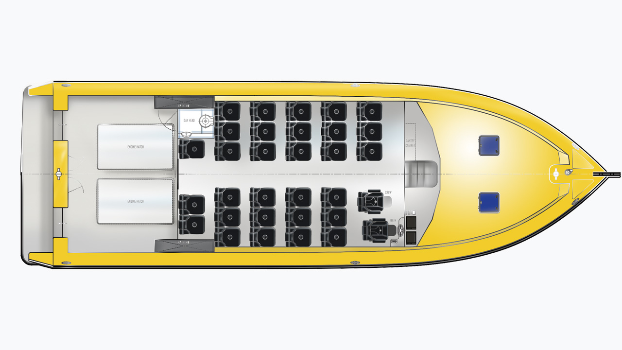15m water taxi custom design