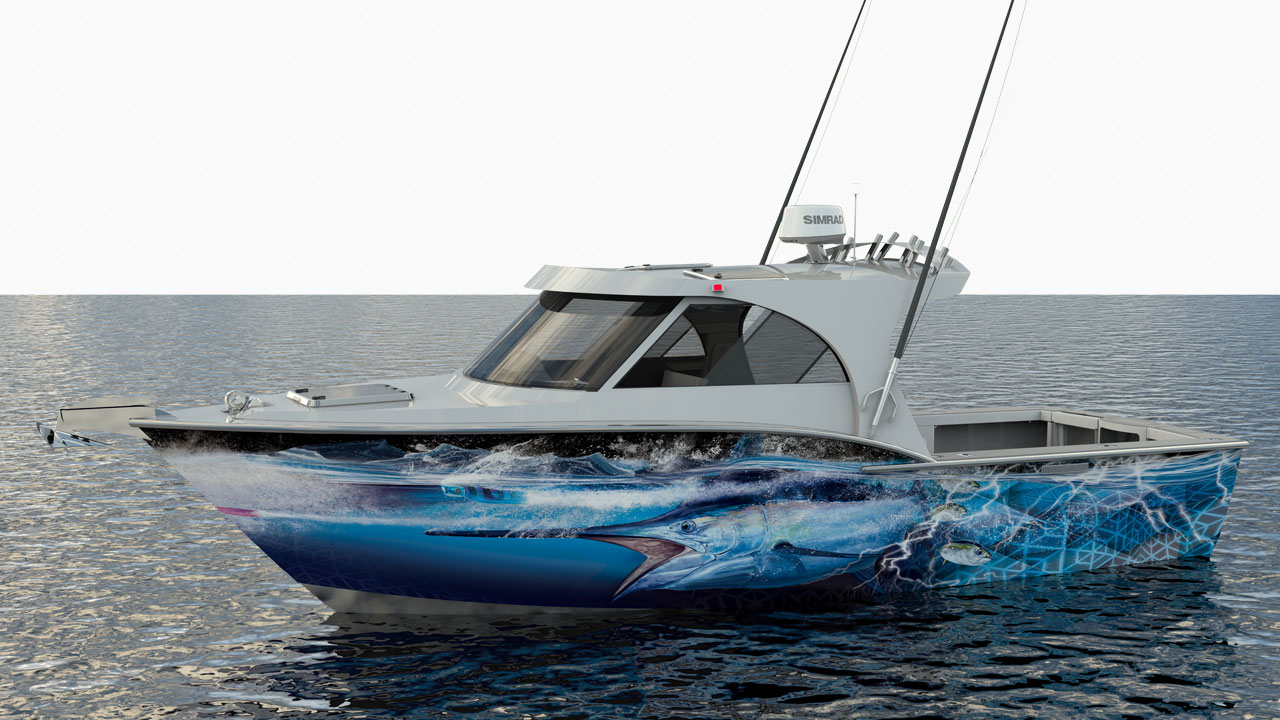Bonze Offshore 800 Game Fishing boat