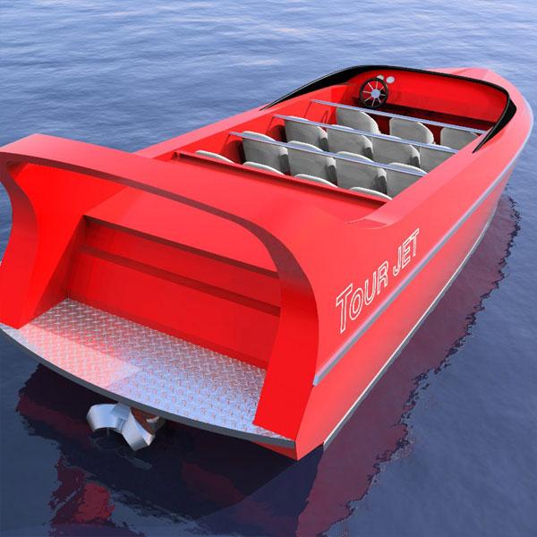 HMD 7.5m Diesel Tour Jet Boat