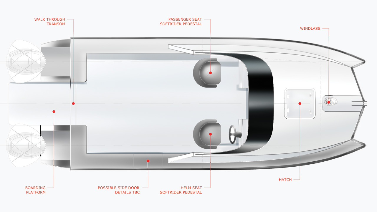 6m Catamaran Aluminium